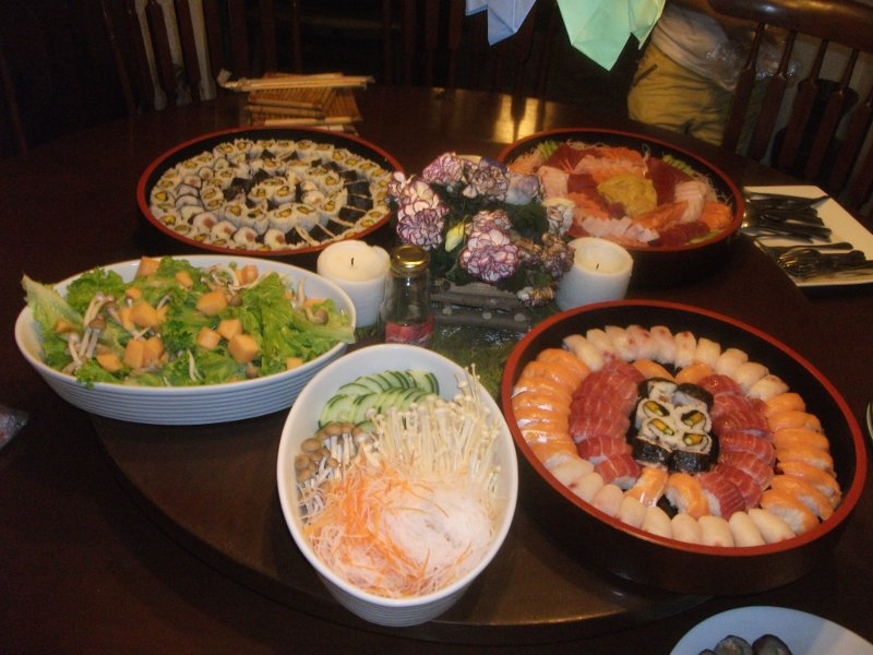 Almost Paleo Diet Japanese Menu Birthday Party with a Professional