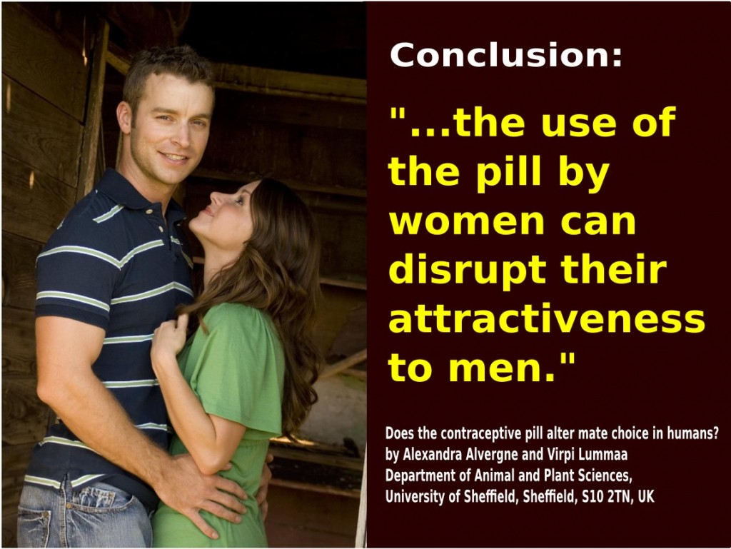 the pill and loss of attractiveness